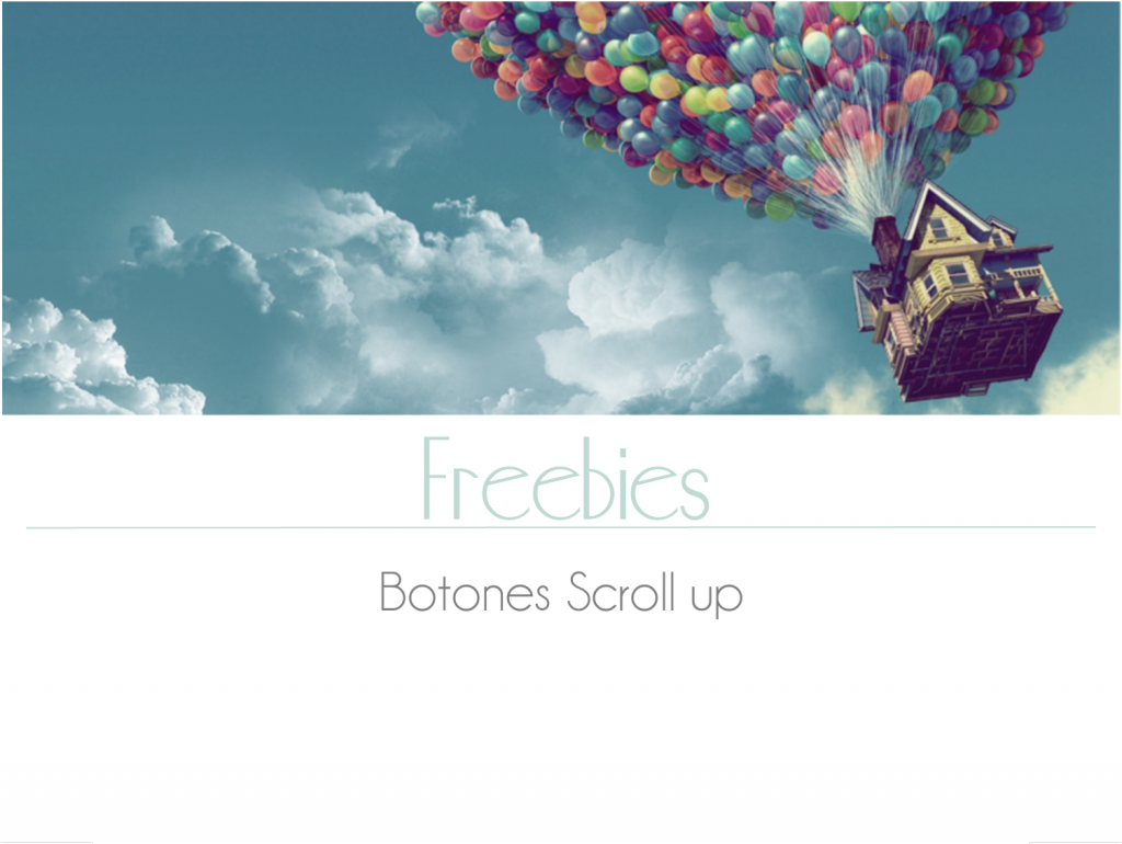 Freebies: botones scroll up