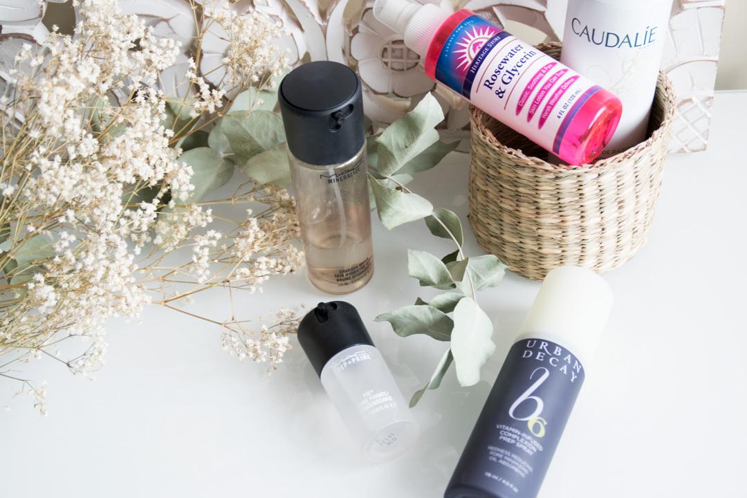 Brumas, sprays y fijadores de maquillaje